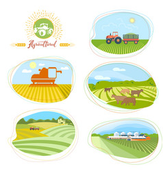 Set agro images vector