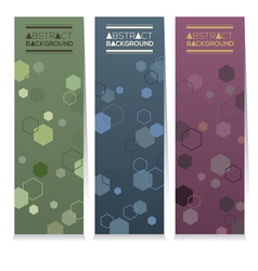 Set Of Three Abstract Vertical Banners vector image