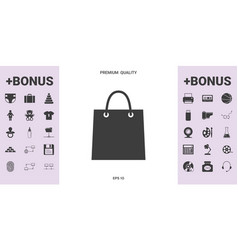 shopping bag symbol - graphic elements for your vector image