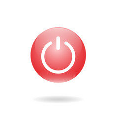 Shut down button bright switch off button vector