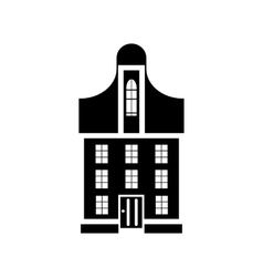 Suburban family house icon simple style vector image