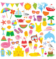 Summer clipart for kids vector