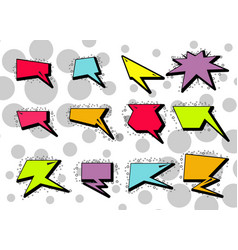 variety cartoon speech bubbles on background vector image