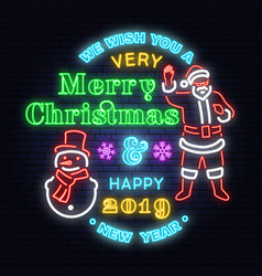 we wish you a very merry christmas and happy new vector image
