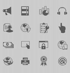 web technology icon set vector image