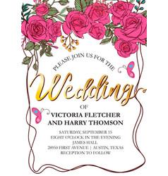 wedding card invitation vector image