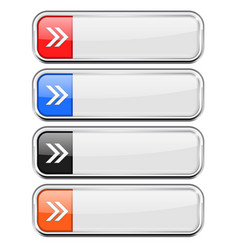 white buttons with colored tags menu interface vector image