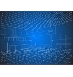 Wireframe kitchen vector