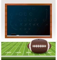 American football chalkboard vector