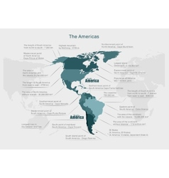 infographics continent America blue and gray vector image vector image