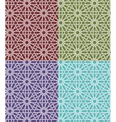 seamless islamic moroccan pattern set arabic vector image