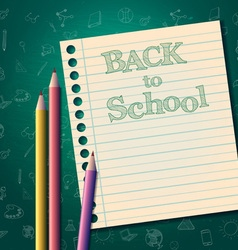 back to school background template vector image