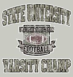 football Varsity champ vector image