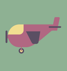 Icon in flat design for airport light aircraft vector