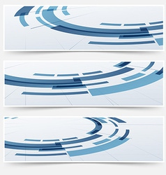 Modern circle round modeling element headers vector image