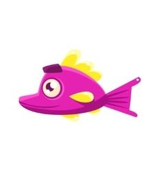 Pink content fantastic aquarium tropical fish with vector