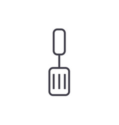 spatula line icon sign on vector image vector image