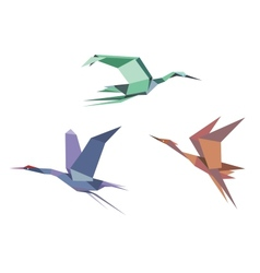 Herons cranes and storks vector image vector image