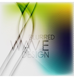 Textured blurred color wave background vector image vector image