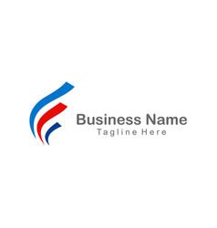 wave business finance company logo vector image vector image