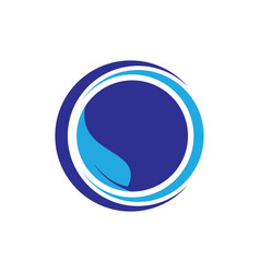 circle leaf logo image vector image vector image