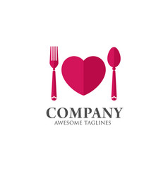 love food logo template vector image vector image