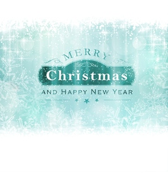 Merry Christmas with snowflakes and light vector image vector image