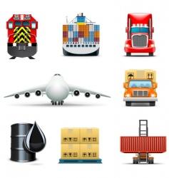 shipping icons | bella series vector image