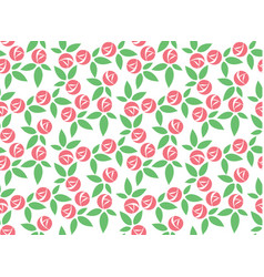 stylized pink rose seamless pattern vector image vector image