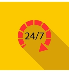 24 hours customer support service icon flat style vector image