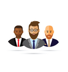 a cartoon business people icon vector image