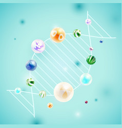Abstract background with composition of spheres vector