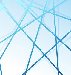 Abstract line structure blue background vector