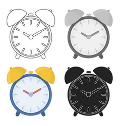 alarm clock icon in cartoon style isolated on vector image