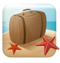 App Travel Icon With Suitcase vector