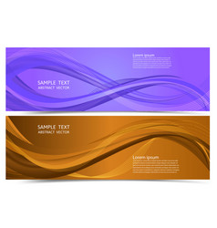 banner purple and orange color geometric abstract vector image
