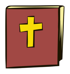 bible icon cartoon vector image