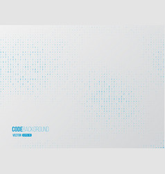 binary code digital technology concept vector image