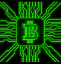 Bitcoin falling apart to digits vector