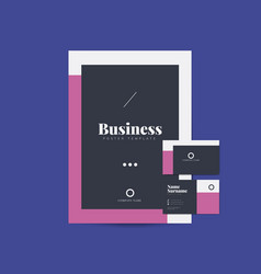 Business brochure and name card templates vector