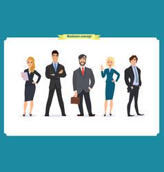 Business people teamwork business team vector
