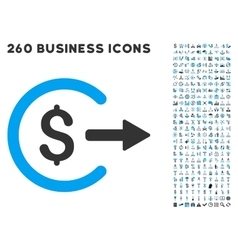 Cash Out Icon with Flat Set vector image