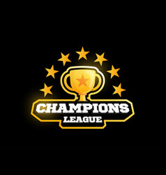 champion gold cup sports league logo vector image