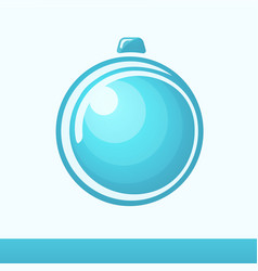 Chistmas card with glossy ball vector