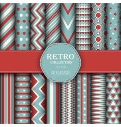 Collection of seamless patterns vector image