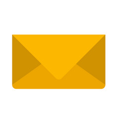 Colorful silhouette image of envelope mail in vector