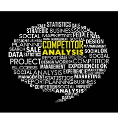 competitor analysis with words background vector image