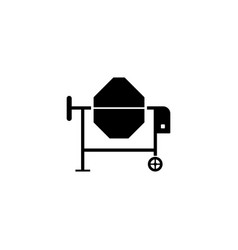concrete mixer icon vector image