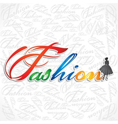 creative writing of fashion word vector image