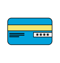 credit card financial and security transaction vector image